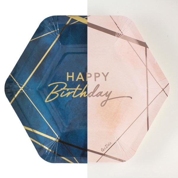HAPPY BIRTHDAY  BLU/PINK
