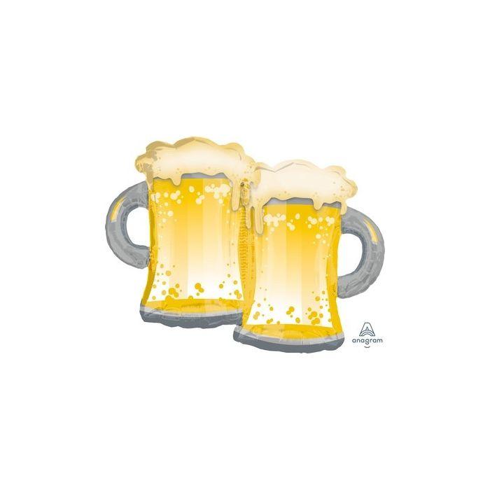 Palloncino Supershape Mylar Boccali Di Birra