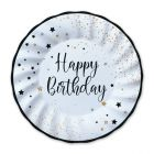 Carta & Company Tutto per il Party |  PIATTI P. HAPPY BIRTHDAY NERO E BIANCO PZ. 8