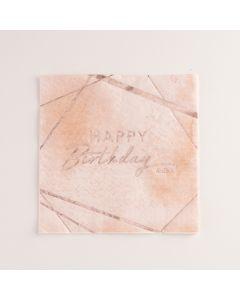 Carta & Company Tutto per il Party |  TOVAGLIOLI HAPPY BIRTHDAY PINK PZ.16